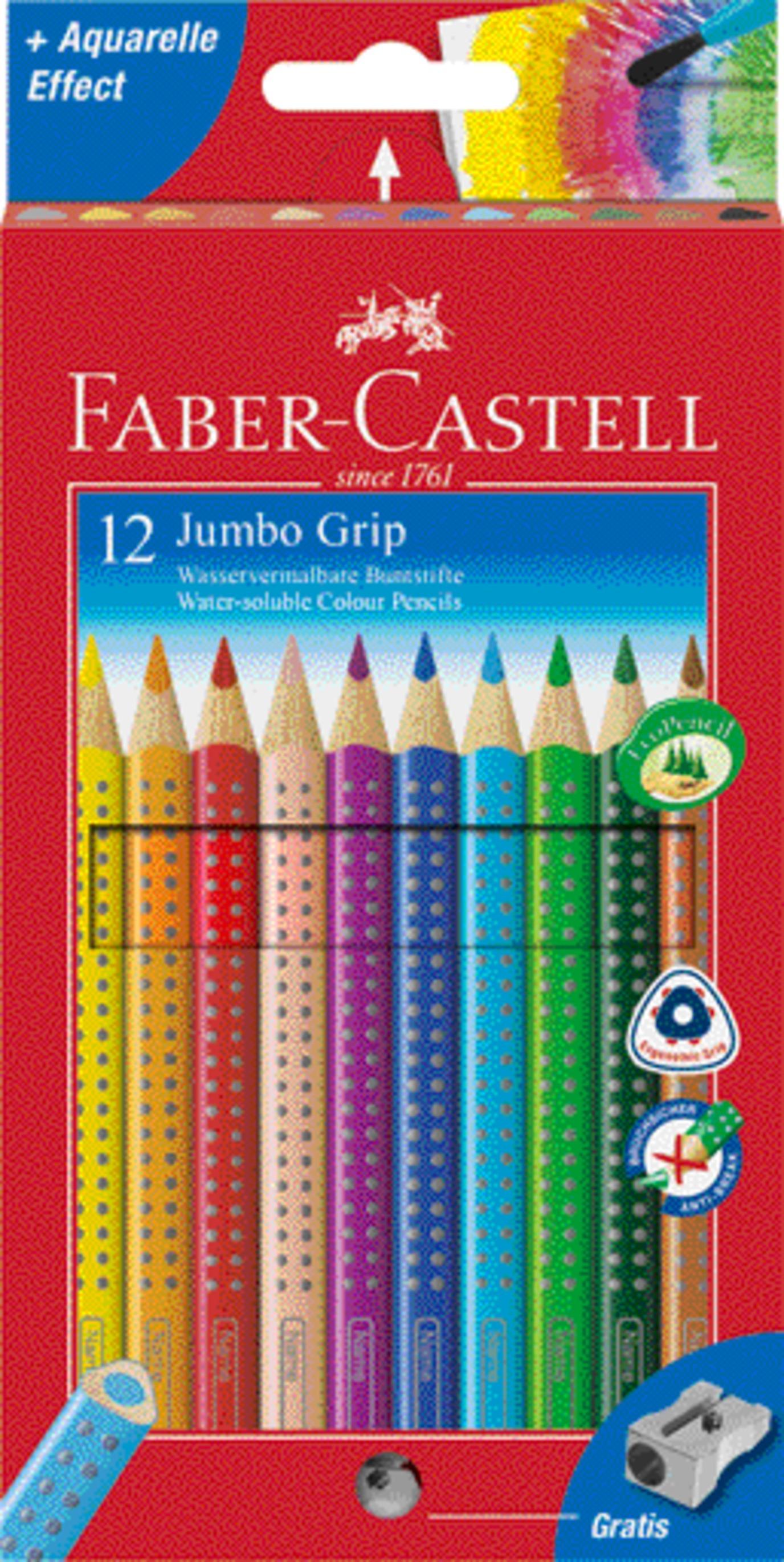 faber castell farbstift jumbo grip 12er etui 110912. Black Bedroom Furniture Sets. Home Design Ideas