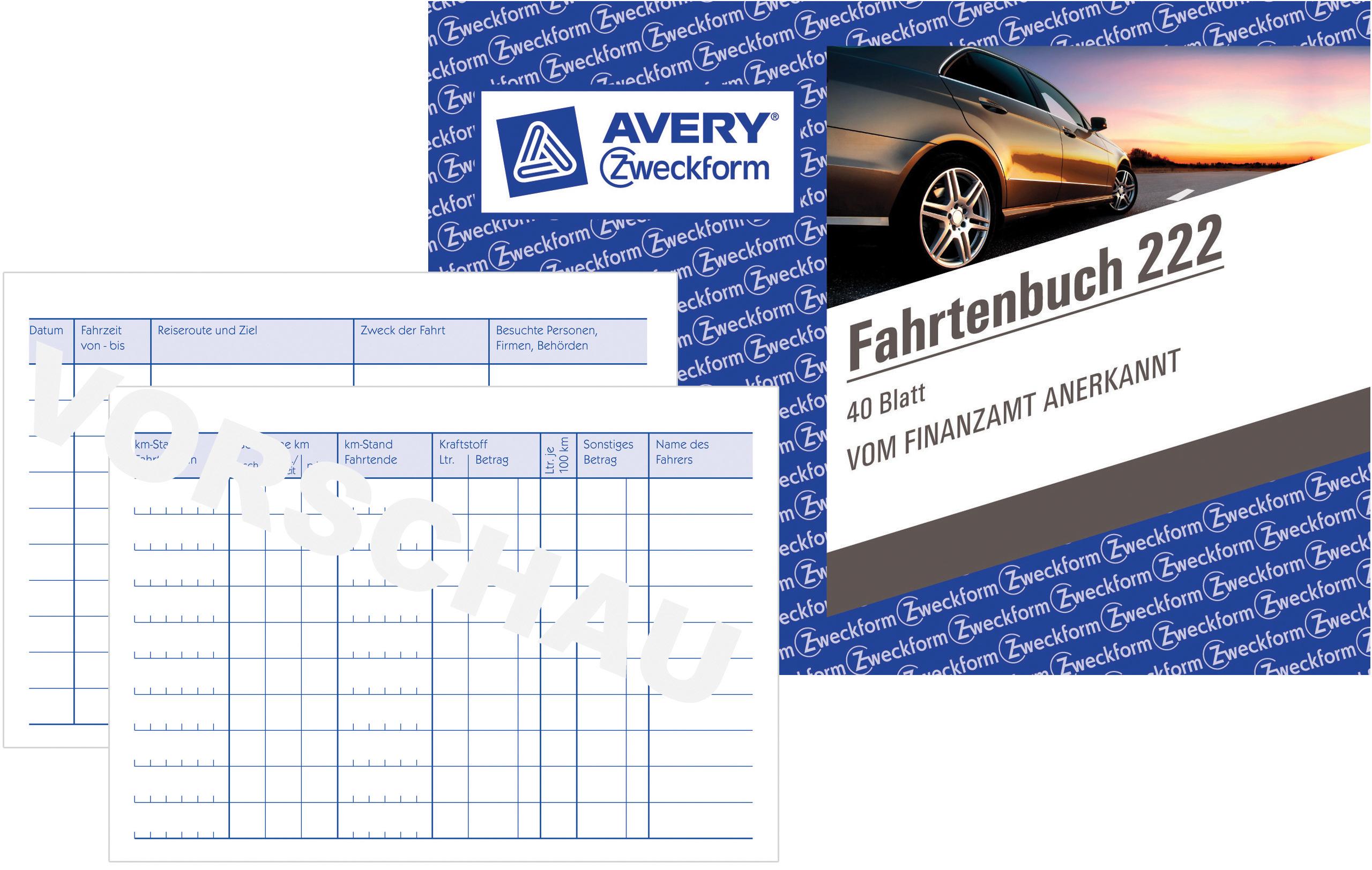 Avery Zweckform 1773 Stunden-Nachweis A4, Selbstdurchschreibend, Von Rechtperte