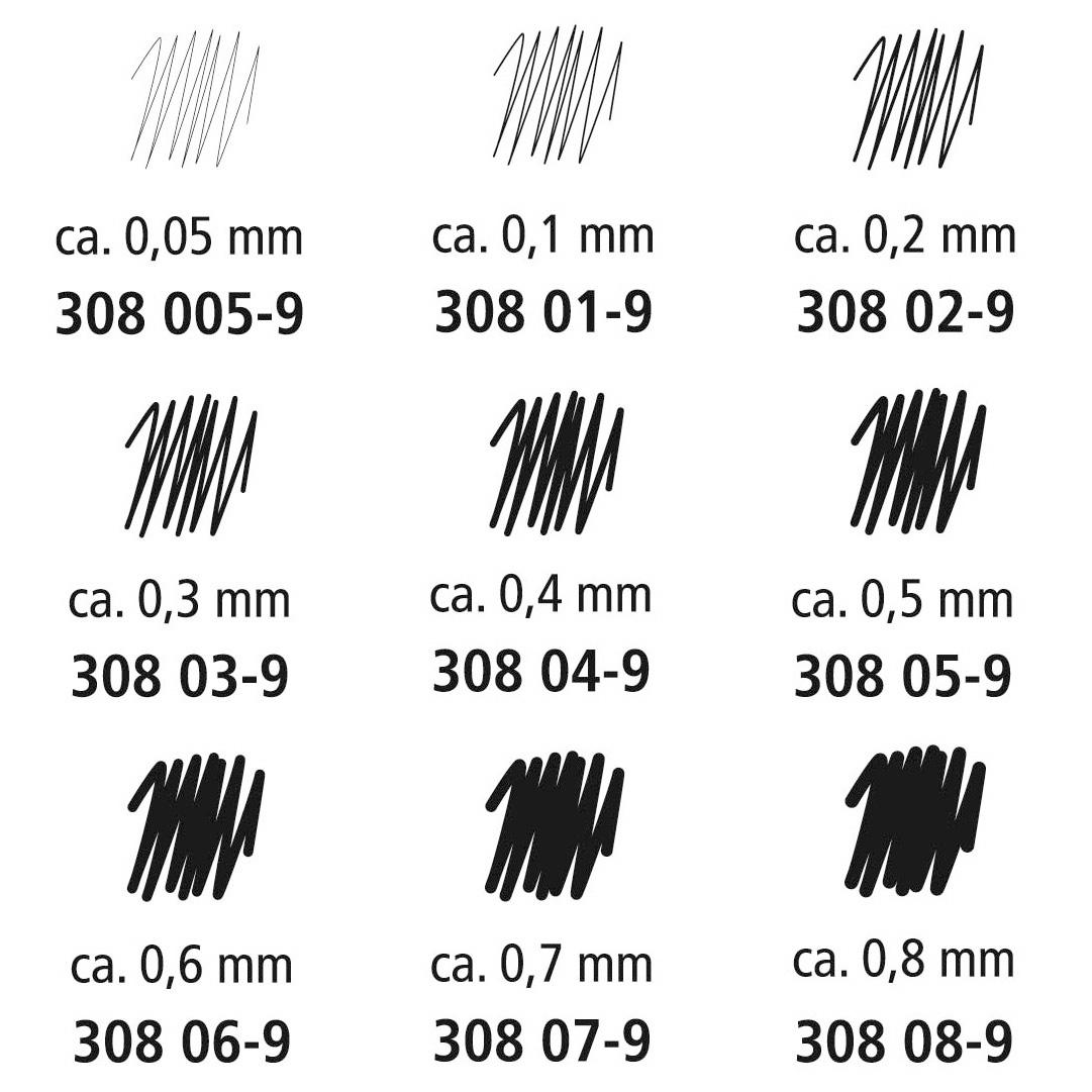 STAEDTLER Pigment Liner 308 schwarz