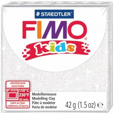 STAEDTLER Modelliermasse Fimo kids 42g 8030-052 weiß glitter