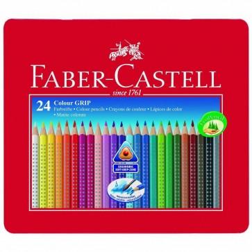 FABER CASTELL Farbstift COLOUR GRIP 2001 Metalletui 24 Farben
