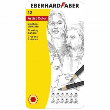 EBERHARD FABER Schreib- und Zeichenbleistifte Set 12 Stück 5H-6B