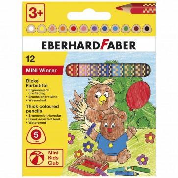 EBERHARD FABER Farbstift Mini Winner Jumbo kurz 12 Farben