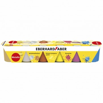 EBERHARD FABER Schulmalfarben 6 x 25ml Set metallic