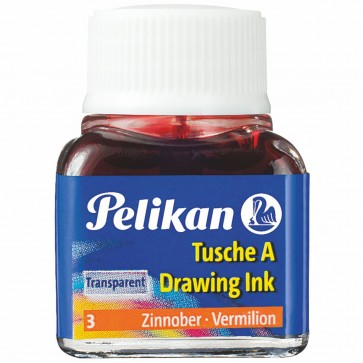 PELIKAN Tusche im Glas 10ml zinnoberrot (3)