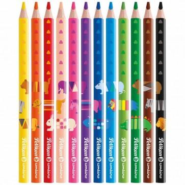PELIKAN Farbstifte Combino Jumbo dreikant 12 Farben