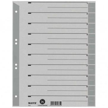 LEITZ Trennblätter 1652 A4 230g Tab grau 100 Stück
