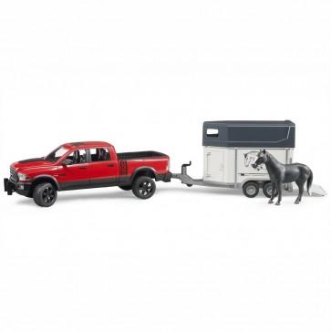 BRUDER 02501 RAM 2500 Power Wagon mit Pferdeanhänger