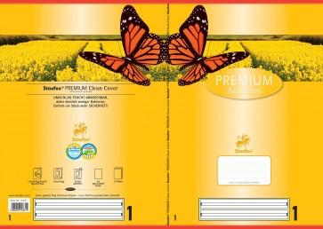 Das Bild zeigt Vorder- und Rückseite des aufgeklappten Heftes.