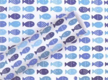 BRAUN & COMPANY Kommunion Konfirmation Geschenkpapier Rolle Premium 0,70 x 2m Fischzug