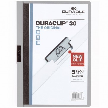 DURABLE Klemmappe DURACLIP A4 2200 bis 30 Blatt grau