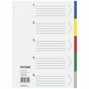 MILAN Register 867 A4 PP 5-teilig farbig