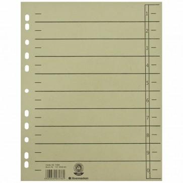 SOENNECKEN Trennblätter A4 1464 230g grau 100 Stück