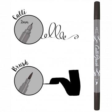 ONLINE Kalligraphie- / Pinsel Stift Calli.Brush schwarz