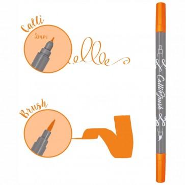 ONLINE Kalligraphie- / Pinsel Stift Calli.Brush neon orange