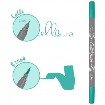 ONLINE Kalligraphie- / Pinsel Stift Calli.Brush türkis