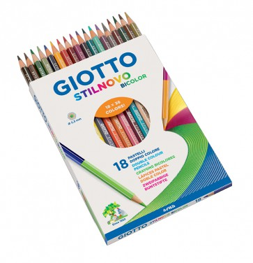 GIOTTO Farbstift Stilnove Biocolor 36 Farben / 18 Farbstifte