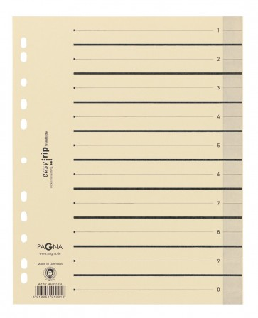 PAGNA Trennblätter A4 chamois Easy Rip 10 Stück
