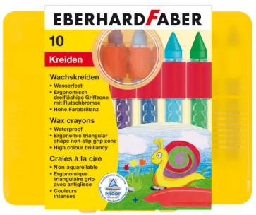 EBERHARD FABER Wachsmalkreide wasserfest 10 Stück rund