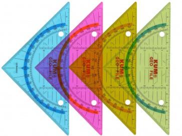 KUM Geodreieck 160mm abheftbar farbig sortiert