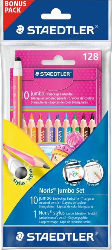 STAEDTLER Buntstift Noris Club Jumbo + Stylus Bleistift rosa