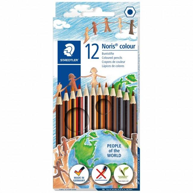 Sechskant hohe Bruchfestigkeit STAEDTLER Noris colour Buntstifte Set mit 12 F