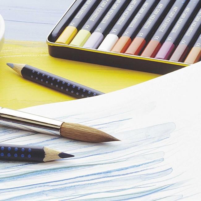 FABER CASTELL Farbstift ART GRIP AQUARELLE 24 Farben im Metalletui