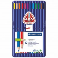 STAEDTLER Farbstift ergosoft 157SB12 12 Farben in Kunsstoff-Box