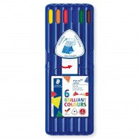 STAEDTLER Farbstift ergosoft JUMBO 158SB6 6 Farben in Kunsstoff-Box