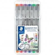 STAEDTLER Pigment Liner 308 0,5mm 6 verschiedene Farben