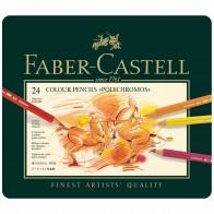 FABER CASTELL Farbstift POLYCHROMOS 110024 24 Farben im Metalletui