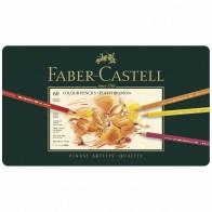 FABER CASTELL Farbstifte Polychromos 60 Stück im Metalletui