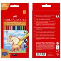 FABER CASTELL Farbstifte Jumbo 5,4mm Mine 12 Farben