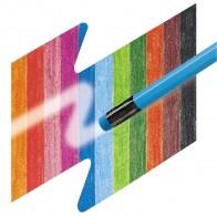 FABER CASTELL Farbstifte mit farbigem Radiergummi 12 Stück