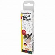 EBERHARD FABER Tattoo Marker Set KIDS 4 Farben + Schablonen GRATIS