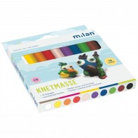 MILAN Plastilin Knetmasse 10 Farben