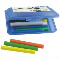 MILAN Knetmassse in Schulbox blau 14 Stangen in 7 Farben
