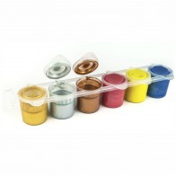 EBERHARD FABER Schulmalfarben 6 x 25ml Set metallic