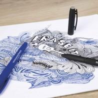 EBERHARD FABER Gelschreiber 0,7mm radierbar blau