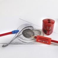 ERHARD FABER Aufsteckradierer für Bleistifte 15 Stück sortiert