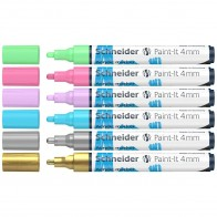 SCHNEIDER Acrylmarker Paint-It 320 4mm 6 Stück sortiert -2-