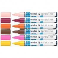 SCHNEIDER Acrylmarker Paint-It 320 4mm 6 Stück sortiert -3-