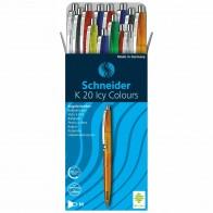 SCHNEIDER Kugelschreiber ICY COLORS Gehäse farbig sortiert, Schreibfarbe blau M