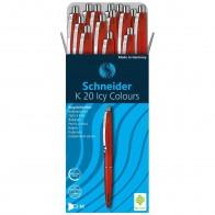 SCHNEIDER Kugelschreiber ICY COLORS K20 Gehäuse rot, Schreibfarbe rot M