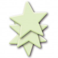 HERMA Leuchtsticker Kunststoff 15020 Sterne Maxi 3 Stück