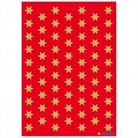 HERMA Sticker 4054 Sterne 8mm gold 3 Blatt = 201 Aufkleber
