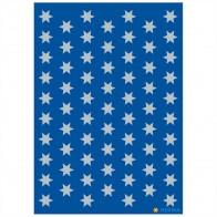 HERMA Sticker 4058 Sterne 8mm silber 3 Blatt = 201 Aufkleber