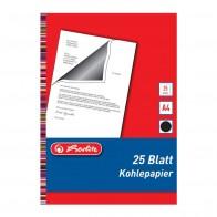 HERLITZ Kohlepapier DIN A4 schwarz 25 Blatt