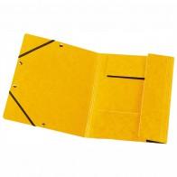 HERLITZ Gummizugmappe A4 Postmappe Karton gelb