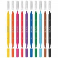 HERLITZ Doppelmaler Fineliner + Fasermaler 10 Farben im Etui